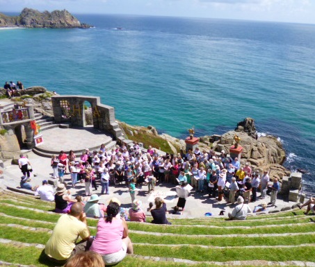 Wessex Warblers seen from the top of the Minack Theatre