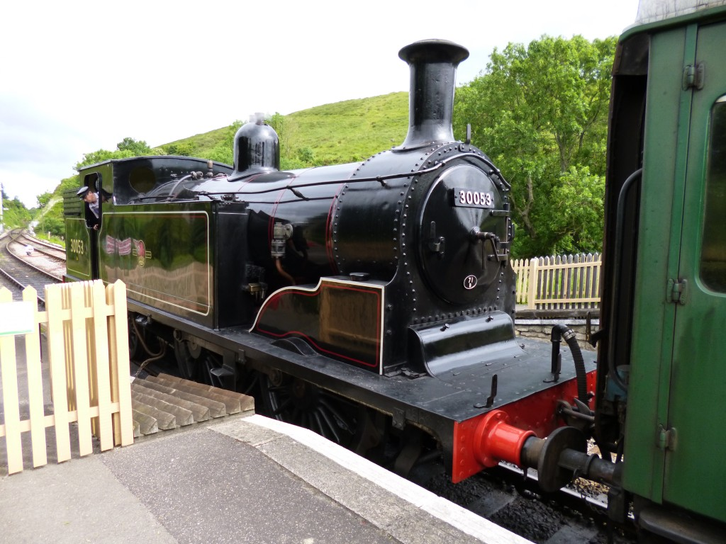 Steam Train at Corfe Castle station