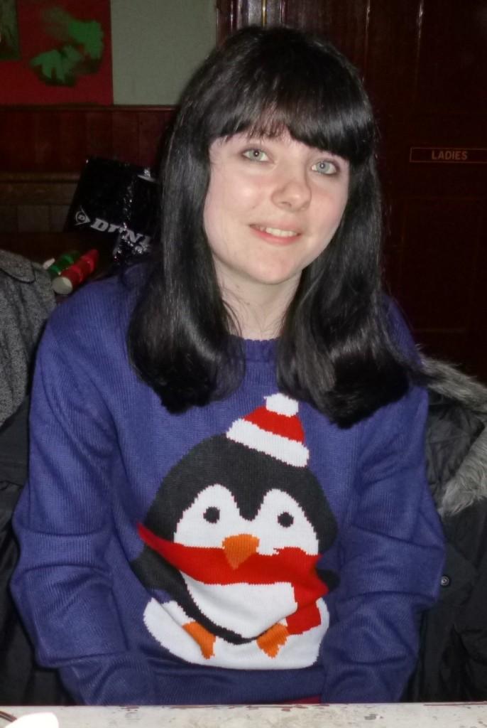 .....her Christmas jumper.....