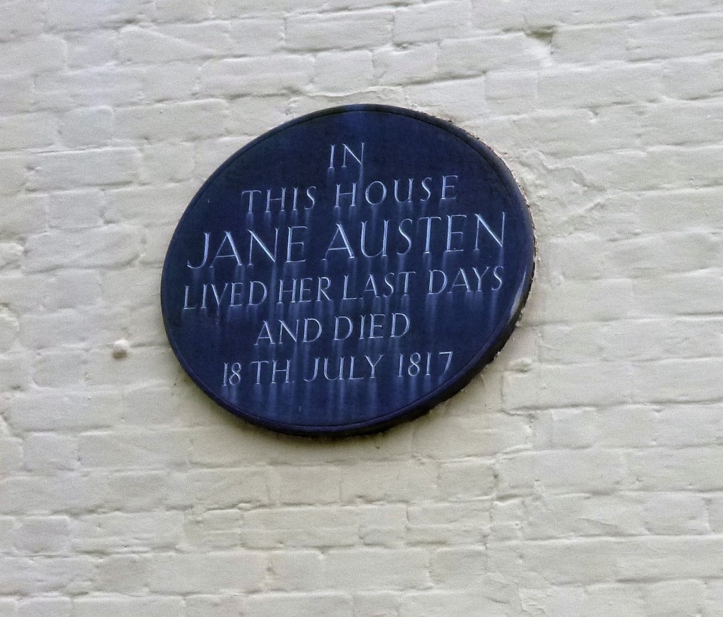Blue plaque on the house