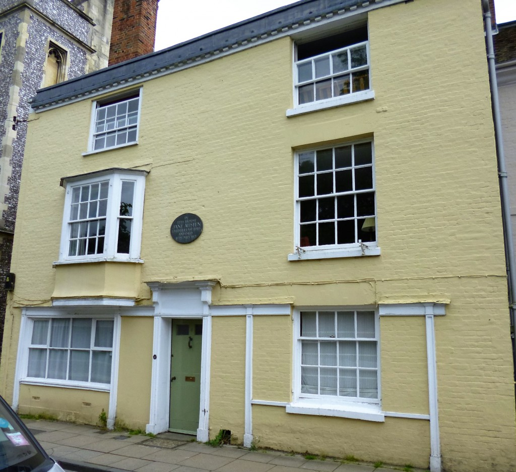 House in Winchester where Jane Austen stayed when she was very ill