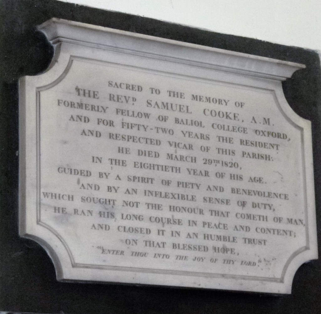 Memorial to Jane Austen's godfather