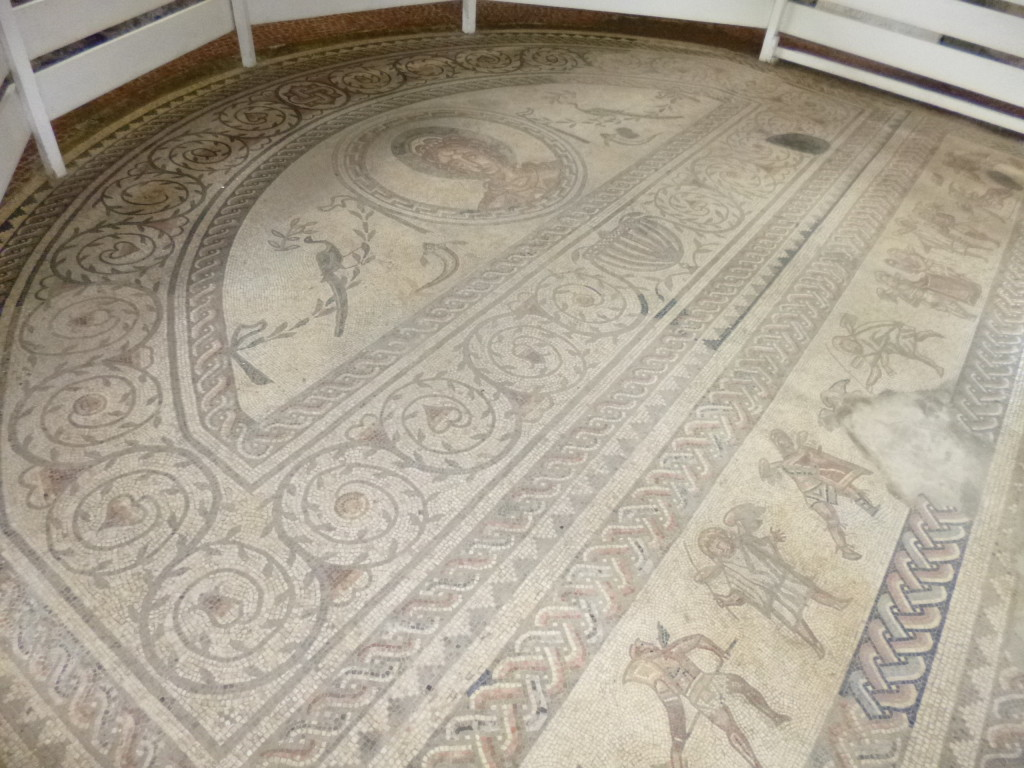 Part of a larger floor mosaic