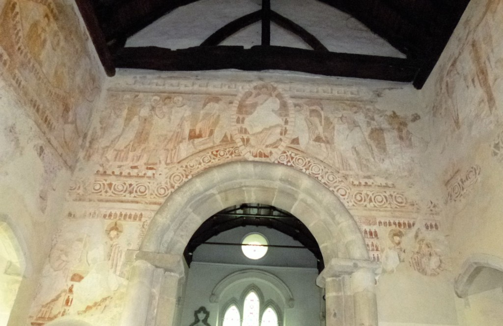 Part of the wall paintings