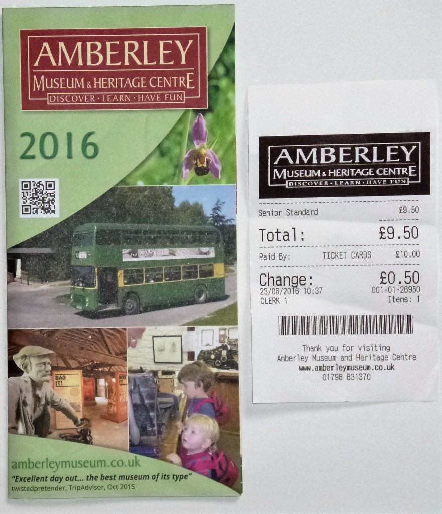Museum leaflet and ticket