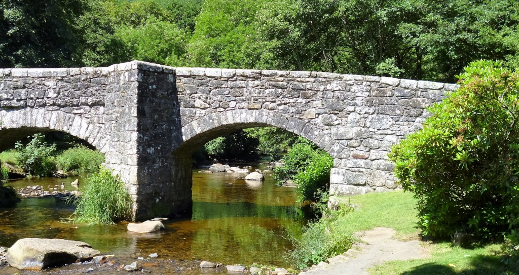 ......the Fingle Bridge....