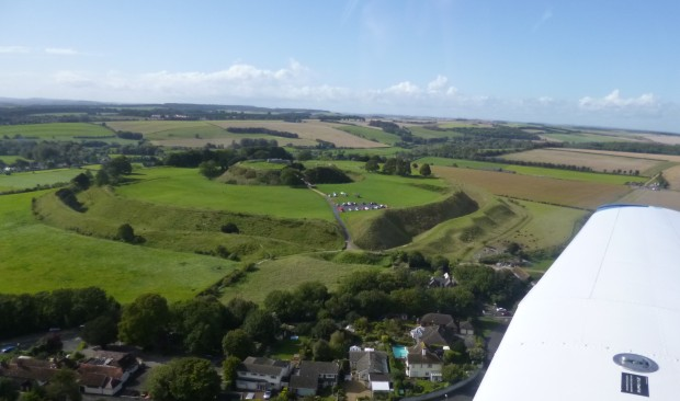 Old Sarum from the air