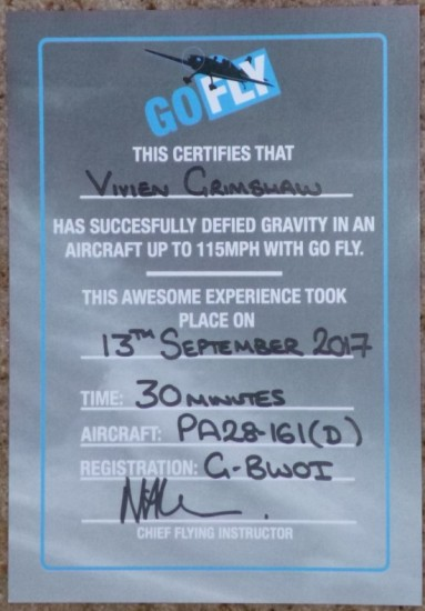 My certificate!