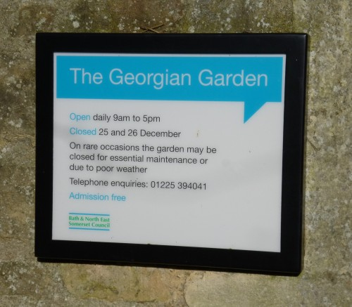 ......The Georgian Garden.