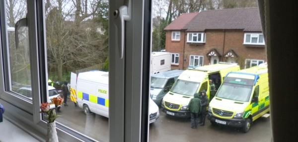 ......a police van.....