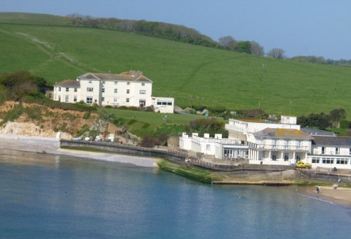 .....looking back at Freshwater Bay.....