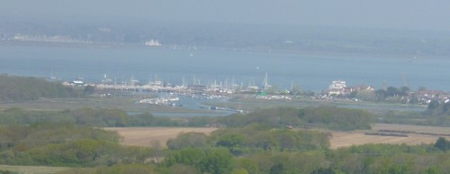 .....and over Yarmouth and the Solent.  (Heat caused it to be hazy!)