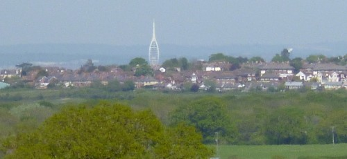 ......of the Spinnaker Tower in Portsmouth - not on the island as it looked!