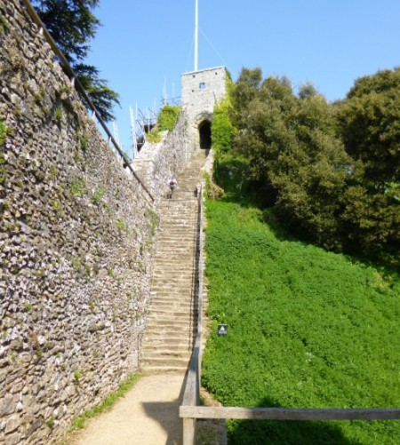 ......the stairs up to the keep and the walls.....