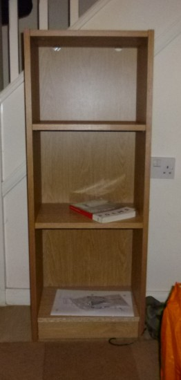 Completed bookcase