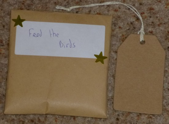 The envelope and the smaller label