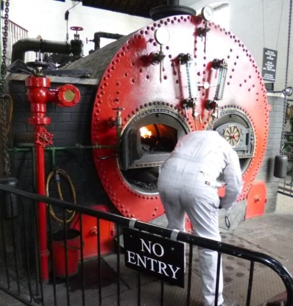 Shovelling coal