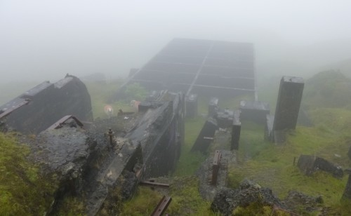 More of the crushing works showing the fog.