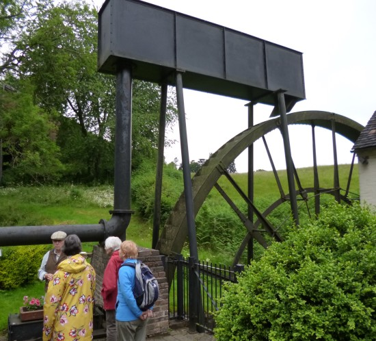 The wheel showing one water input