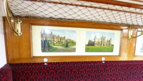 Pictures on the carrige walls