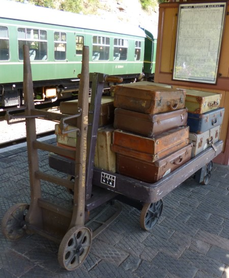 Porters trolleys and suitcases