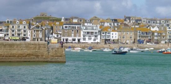 Looking across the harbour