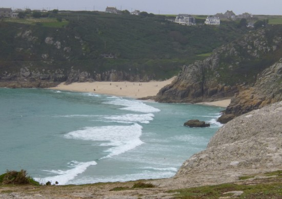 Looking towards Porthcurno beach
