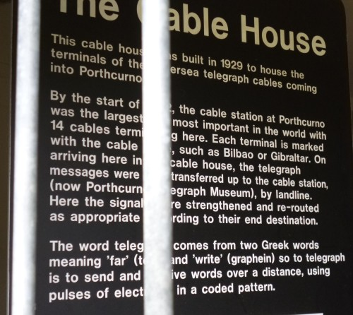 Cable House information board
