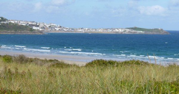 From the coastal path looking towards St Ives
