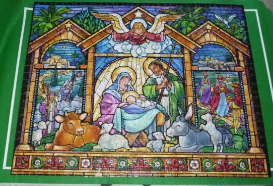 """""""Stained glass Nativity"""""""